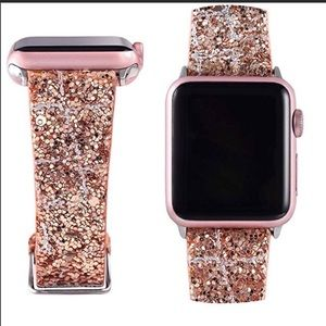 Apple Watch band Rose gold glitter 38/40mm New